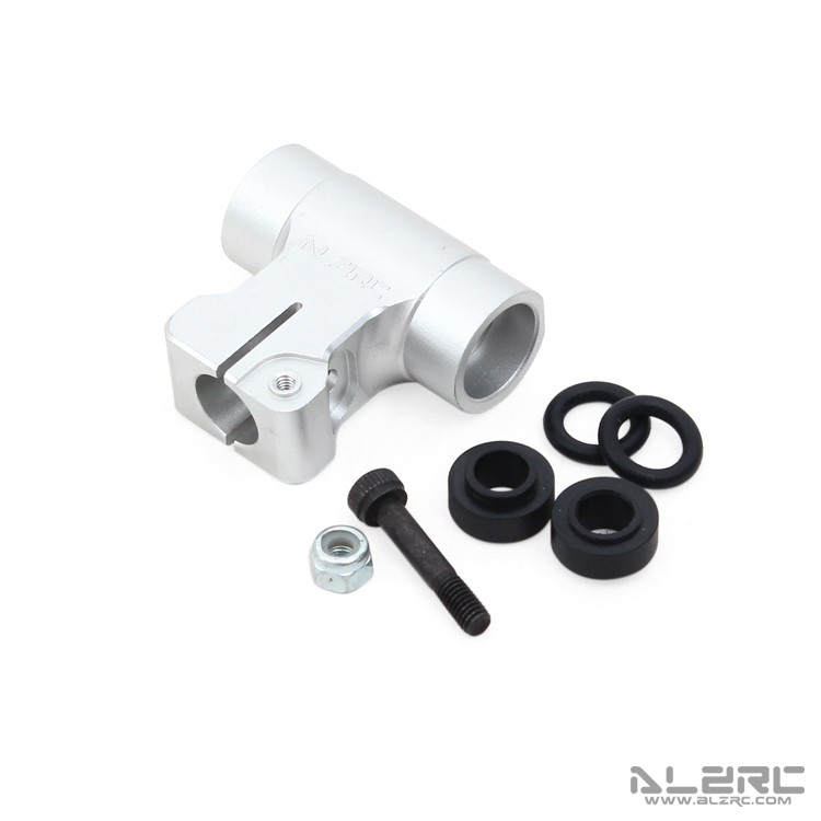 Devil 380 FAST Metal Main Rotor Housing Set - Silver