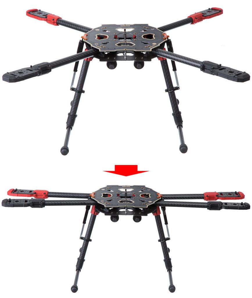 Tarot TL65S01 650 Sport Carbon Quad Kit with Retractable Landing Skids