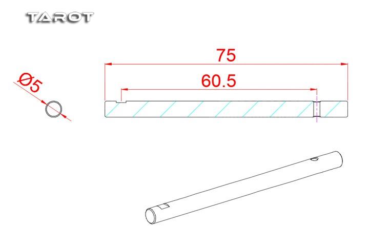 Tarot RC Heli 550/600 Tail Rotor Shaft MK6059