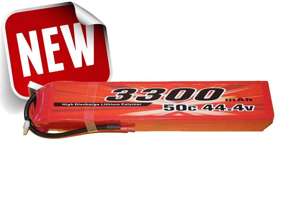 Alpha RC Heli Lipo Battery 3300mah 12s 50C 44.4Volts