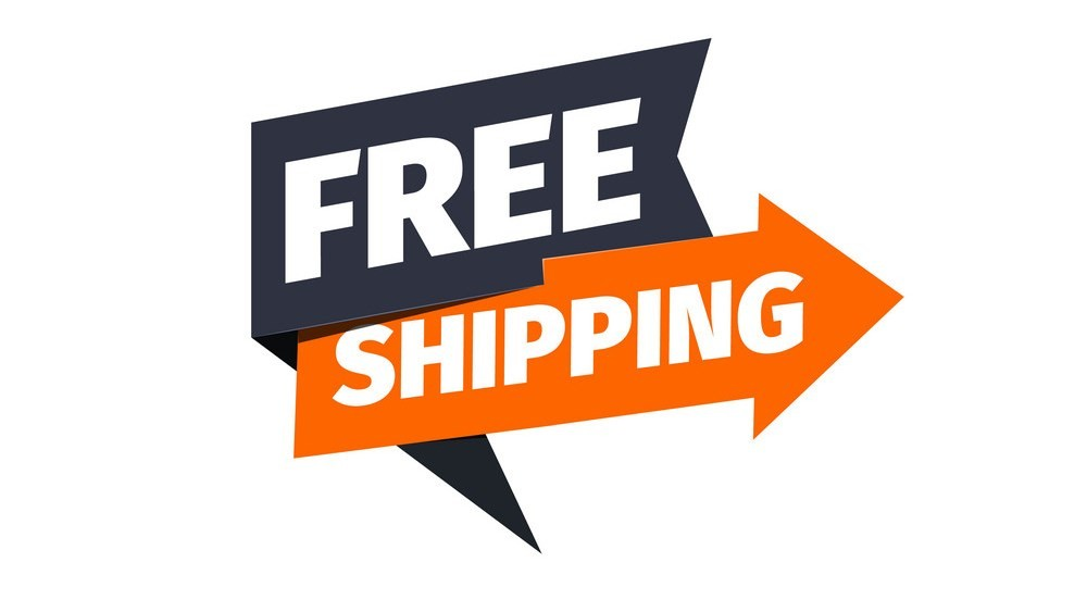 Free shipping vector icon. Delivery pointer. Sticker of cargo services